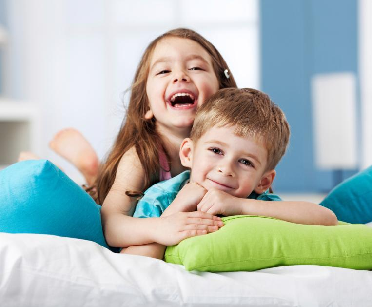 a brother and sister smile | children's dentistry arlington tx