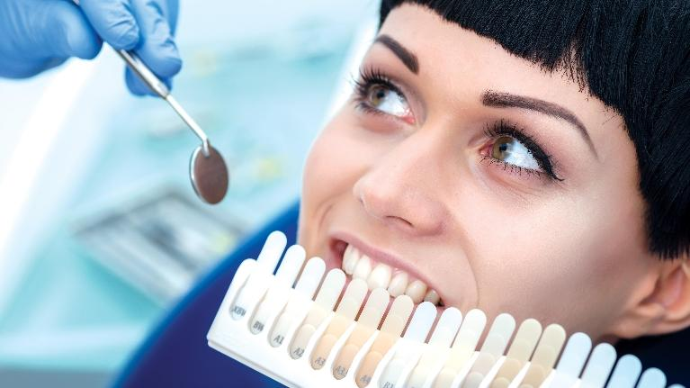 woman having teeth whitened | arlington tx dentist