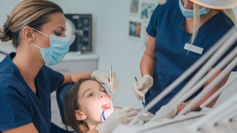 fining and filling cavities at dentist
